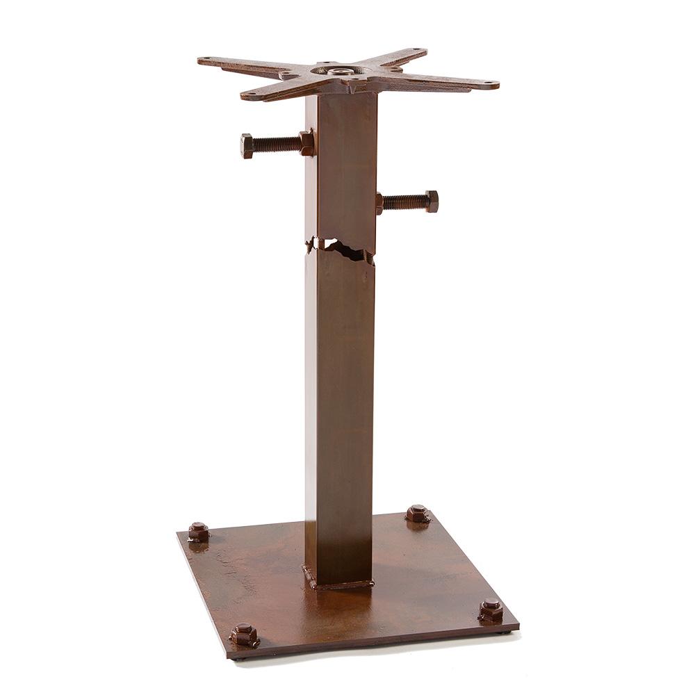 Frankie tavolo in ferro trasparente effetto ruggine for Tavolo in ferro