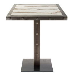 Tavolo Borg borchie inchiodate table top